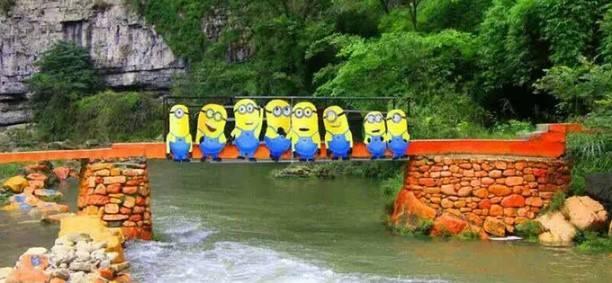 青龙峡漂流—小黄人趣味河道