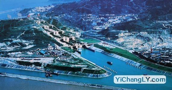 三峡大坝船闸