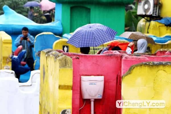 重庆景区露天厕所