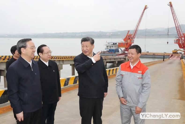 国家主席习近平从北京直飞湖北宜昌考察