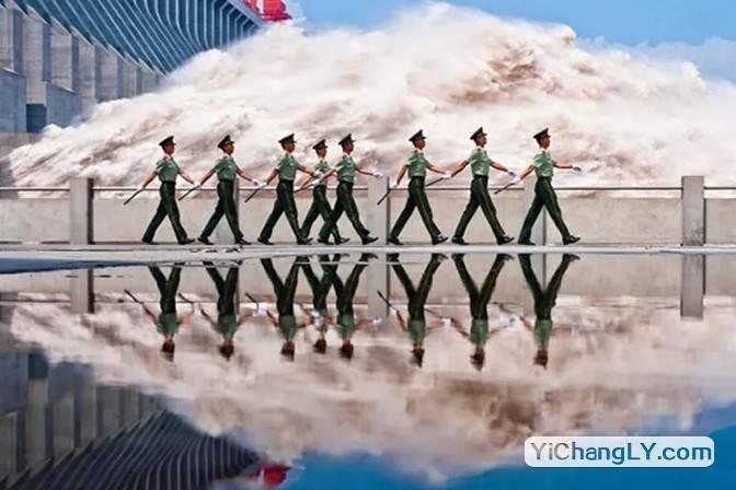 三峽大壩軍隊武警