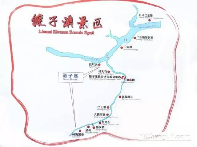 链子溪景区导览图