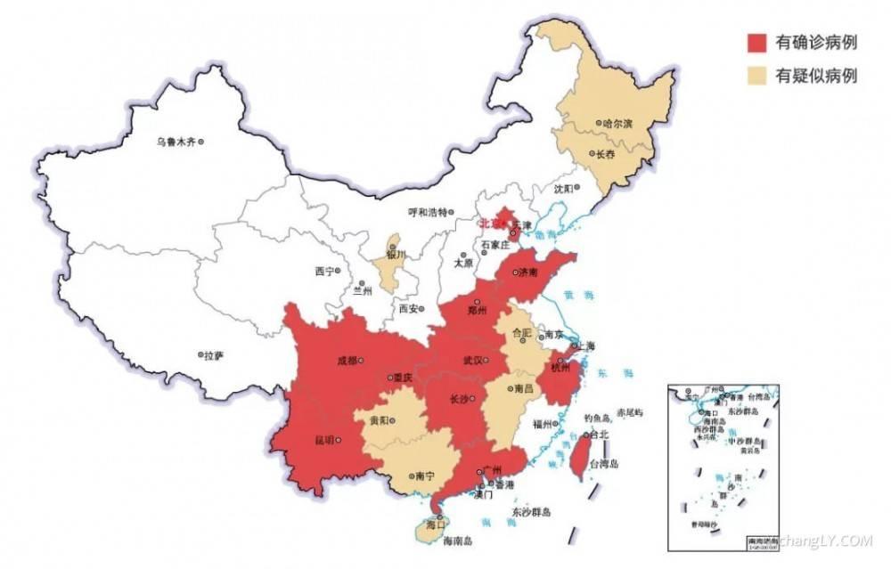 中国大陆新型冠状病毒