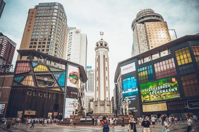 解放碑和磁器口的逛街照片