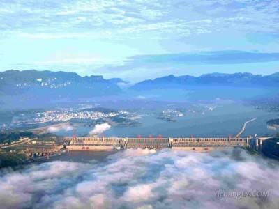 三峡大坝建造前洪水影响范围