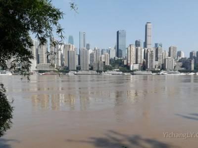 长江第3号洪水过境重庆主城
