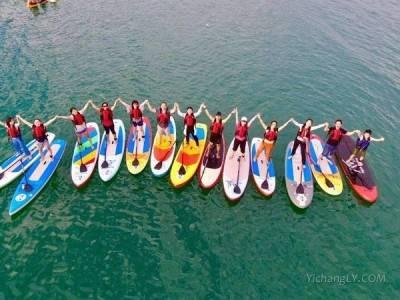长阳清江画廊景区周六举办水上桨板马拉松