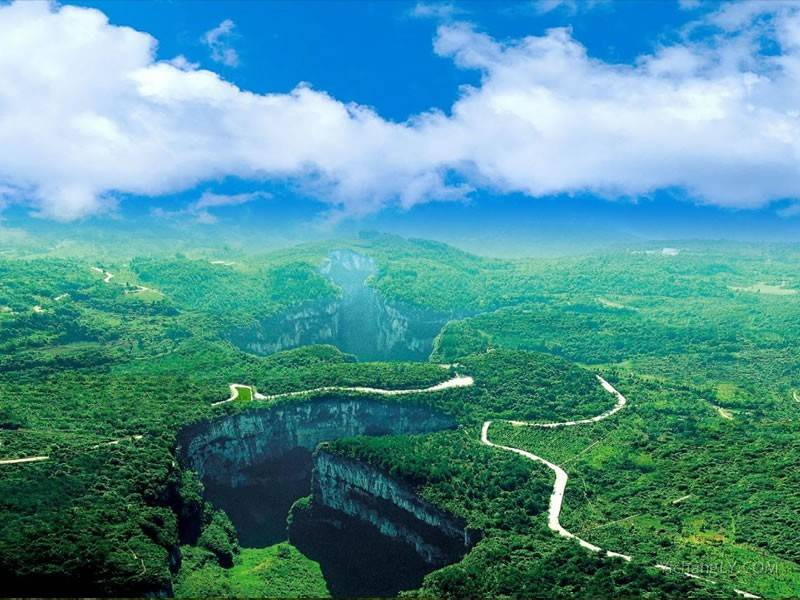重庆武隆喀斯特景区图片